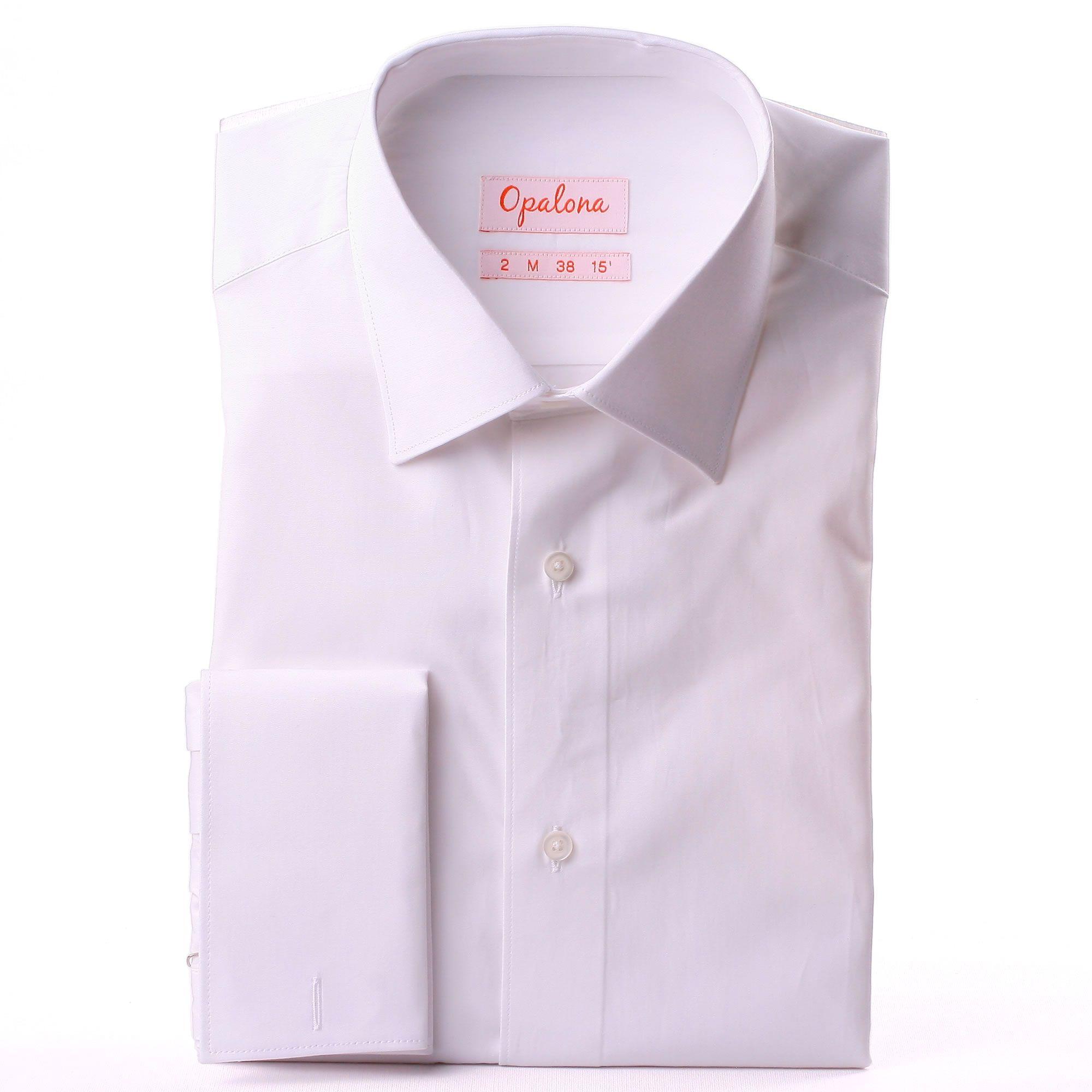 White Poplin French Cuff Shirt