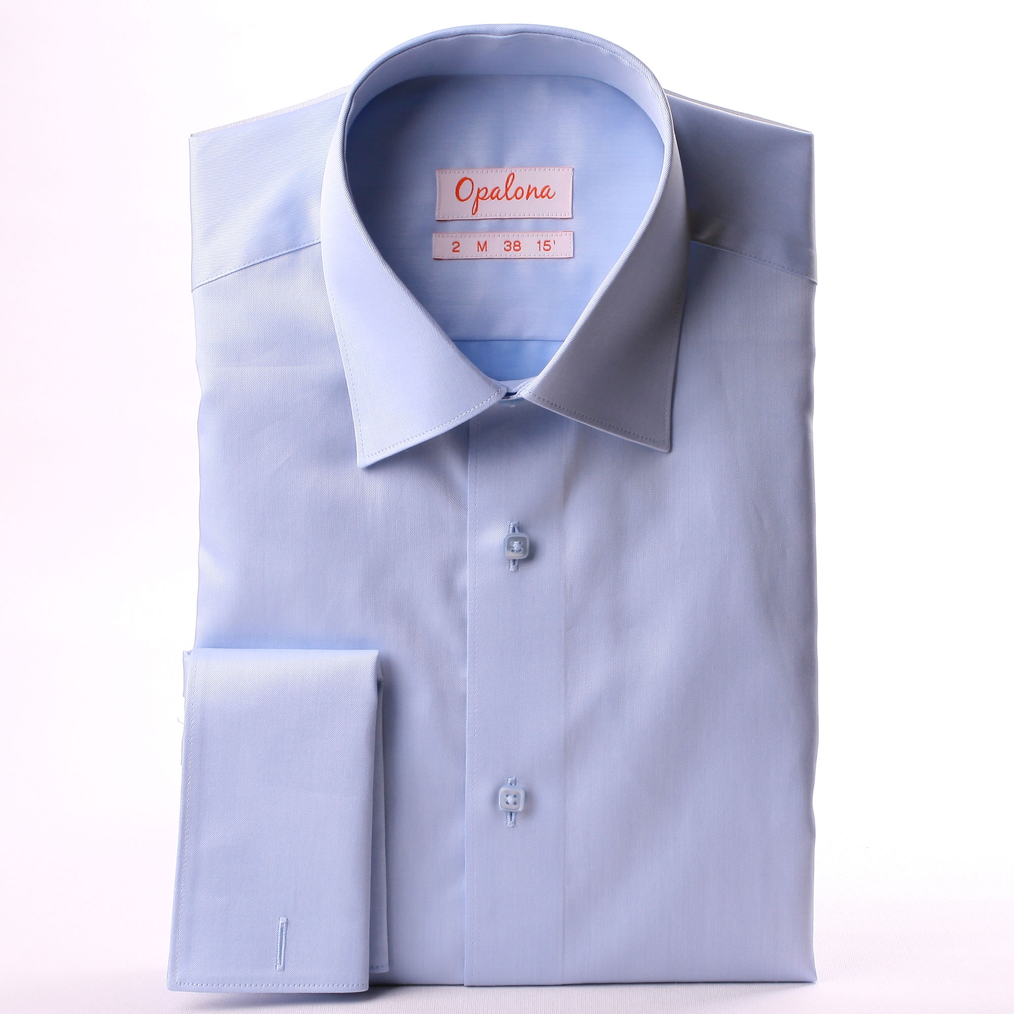 light blue french cuff shirt