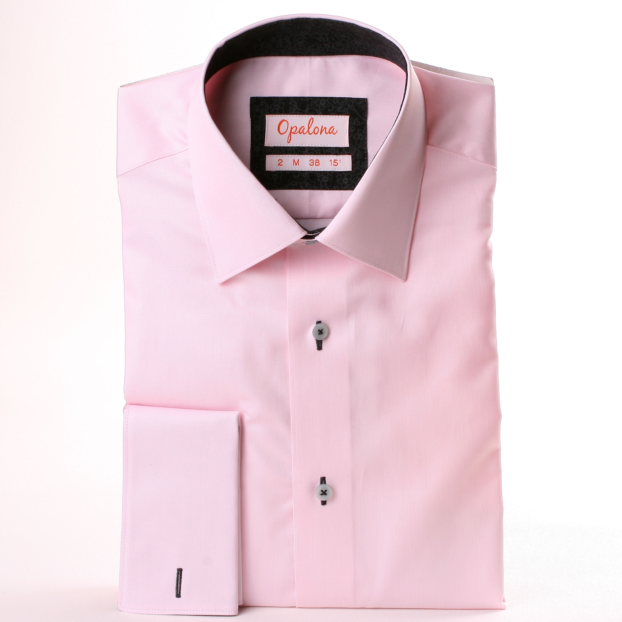 White collar french cuff shirt grey white collar french for White french cuff shirt