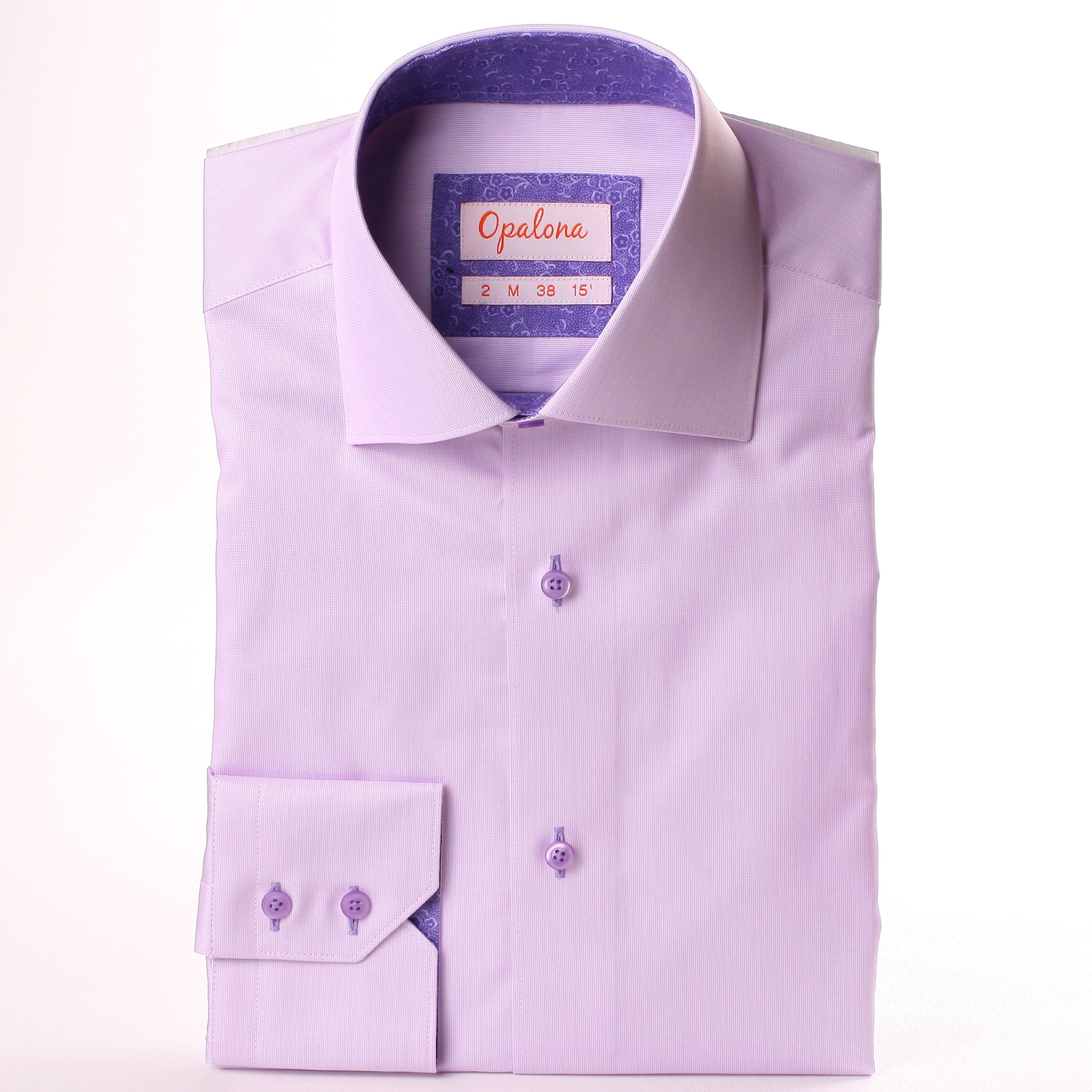 lila hemd mit lila blumenmuster kragen und manschetten. Black Bedroom Furniture Sets. Home Design Ideas