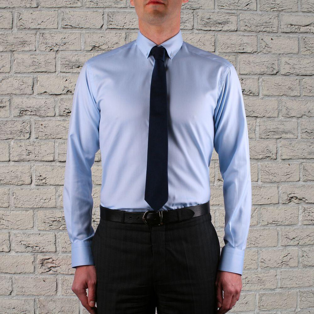 Chemise blanche tissu oxford col boutonn - Chemise cravate homme ...
