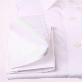 Chemise blanche à poignets mousquetaires tissu popeline