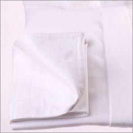 Weiß Französisch Manschette Shirt mit Stehkragen