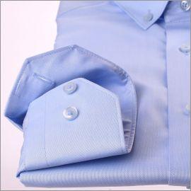 Blauwe button-down kraag overhemd
