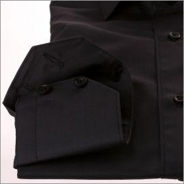 Chemise noire tissu popeline