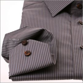 Grey and brown stripe shirt