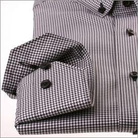 Weiße und schwarze Hahnentritt-Hemd