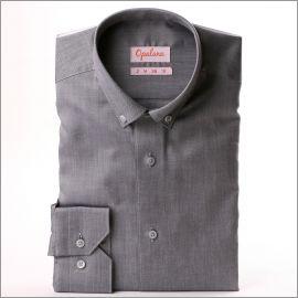 Grijs button down overhemd