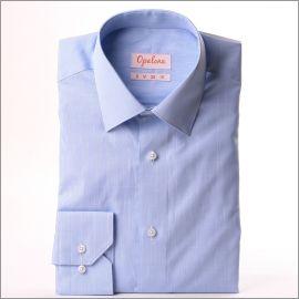Chemise bleu clair à carreaux Prince de Galles