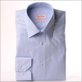 Light blue and white natté shirt