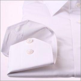 Weiß Stretch-Popeline Hemd