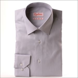 Chemise grise tissu Pin Point