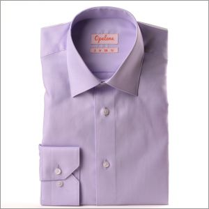 Chemise parme tissu Pin Point