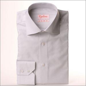 Chemise à petits carreaux gris