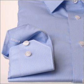 Camisa a cuadros azul