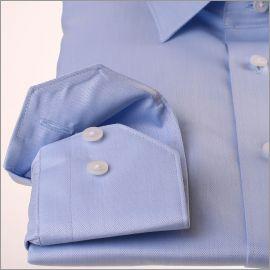 Chemise à micro-chevrons bleu ciel