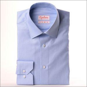 Chemise à petits carrés bleu ciel
