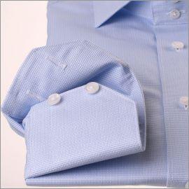 Chemise à fin tissage bleu ciel