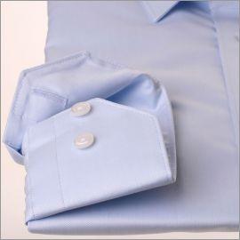 Chemise gabardine bleu ciel