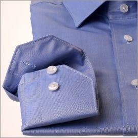 Chemise bleue tissu pinpoint