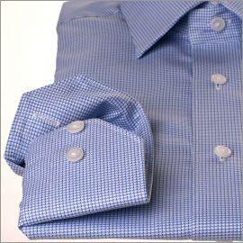 Chemise pied-de-poule bleue et bleu ciel