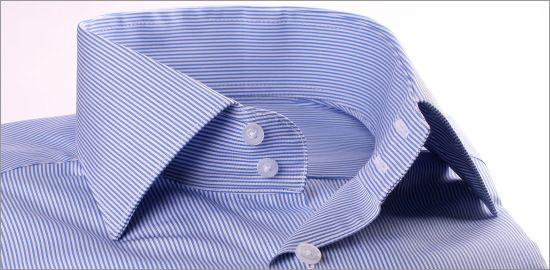 Chemise rayée bleue et blanc