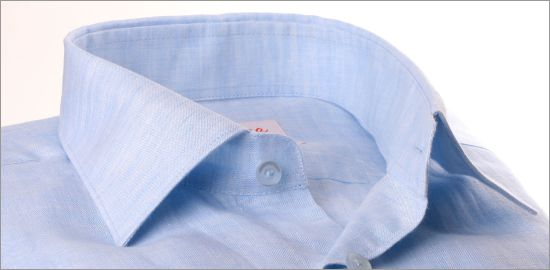 Chemise bleu ciel en lin