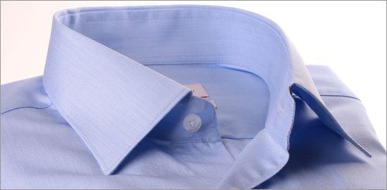 Chemise fil à fil bleu ciel