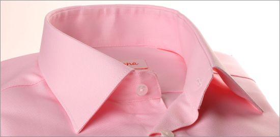 Chemise rose tissu oxford