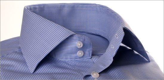 Chemise pied-de-poule bleue