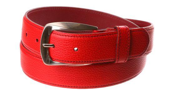 Rot und Burgunder Ledergürtel