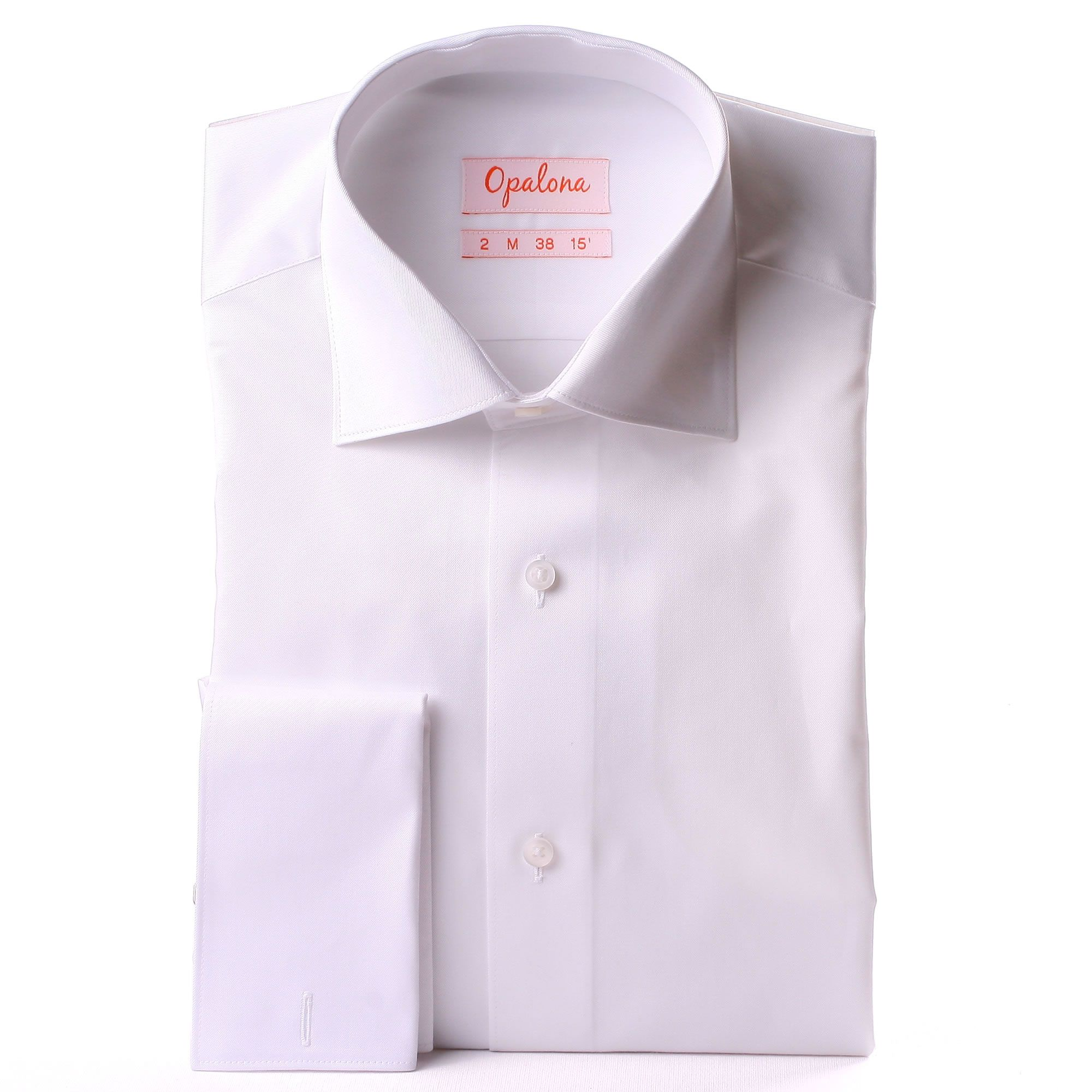 White gabardine french cuff shirt for What is a french cuff shirt