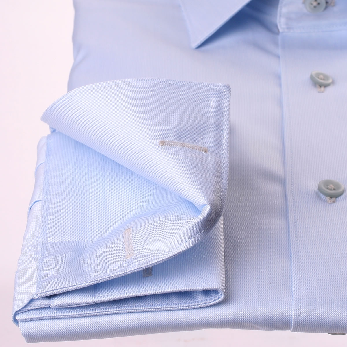 Light blue french cuff shirt with grey pattern collar and for Light blue french cuff dress shirt