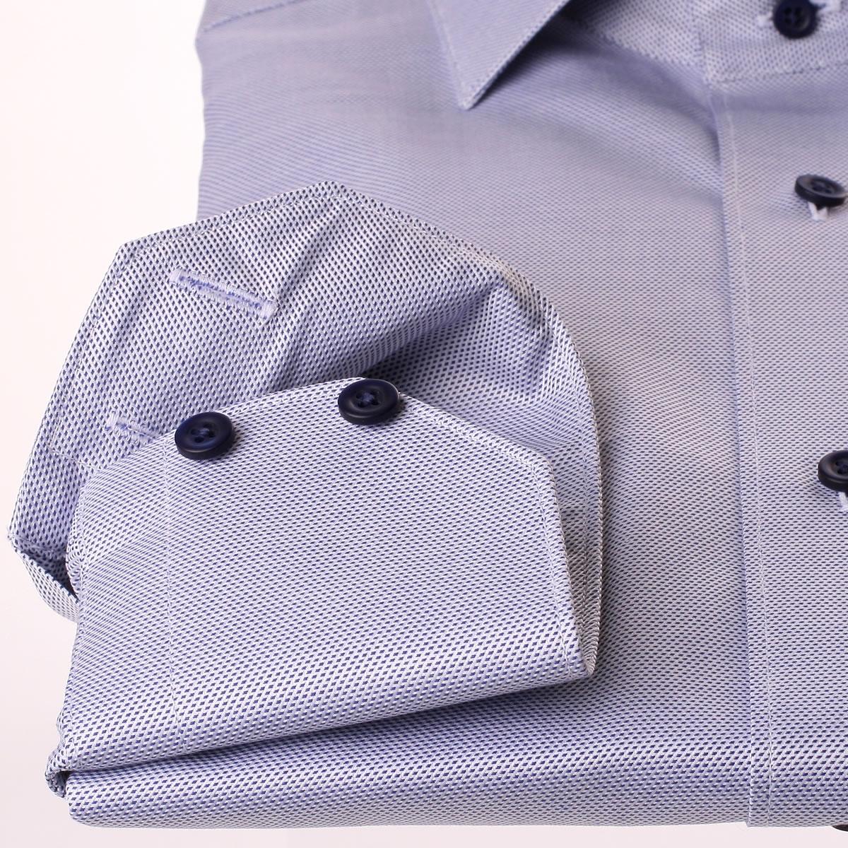 chemise en tissu natt bleu fonc et blanc. Black Bedroom Furniture Sets. Home Design Ideas