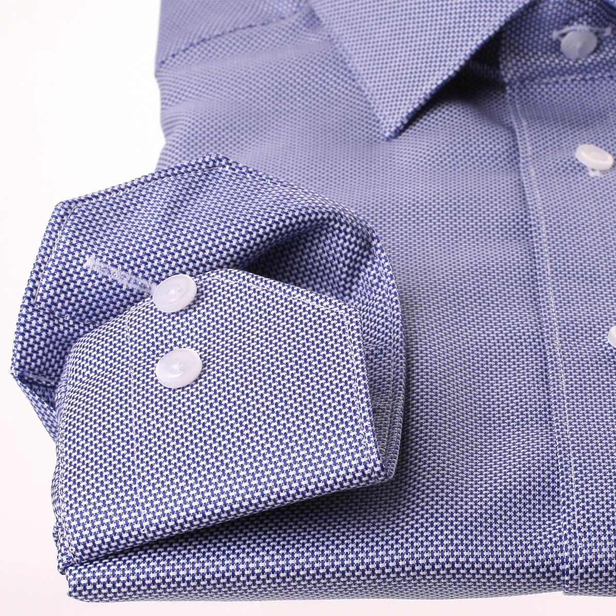 Fabrication De Panier Tissé : Chemise tissu natt? blanc et bleu marine